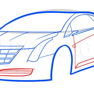 how to draw a 2013 cadillac elr step by ad guy