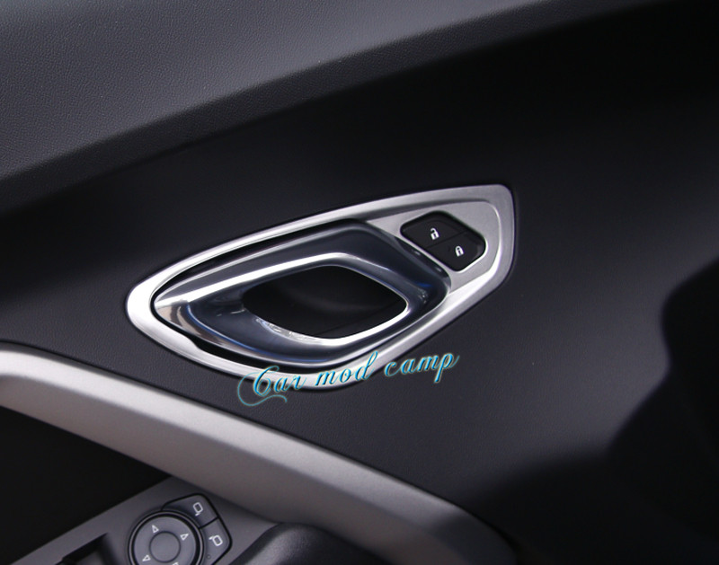 us 55 7 16 off for chevrolet camaro 2016 2017 abs interior car door handle bowl frame cover trim 2pcs styling accessories in photos