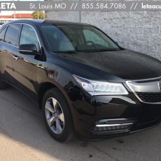 certified pre owned 2014 acura mdx 4d sport utility in st louis ad2106 frank leta - small