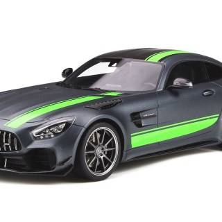 mercedes benz amg gt r pro matt gray with carbon top and green stripes 1 18 model car by spirit vmw gtr grey hot wheels - small