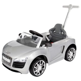 Rollplay audi r8 spyder children s push car ride on silver 12 months costco uk - small