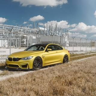 Gold bmw 4 series coupe m4 adv 1 wheels hd sporty mags 2017 wallpaper - small