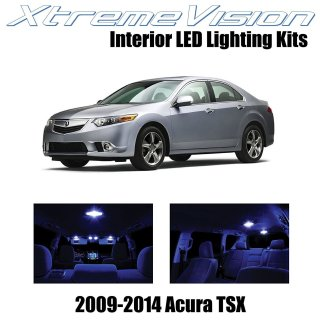 Xtremevision led for acura tsx 2009 2014 12 pieces pure white premium interior kit package installation tool - small