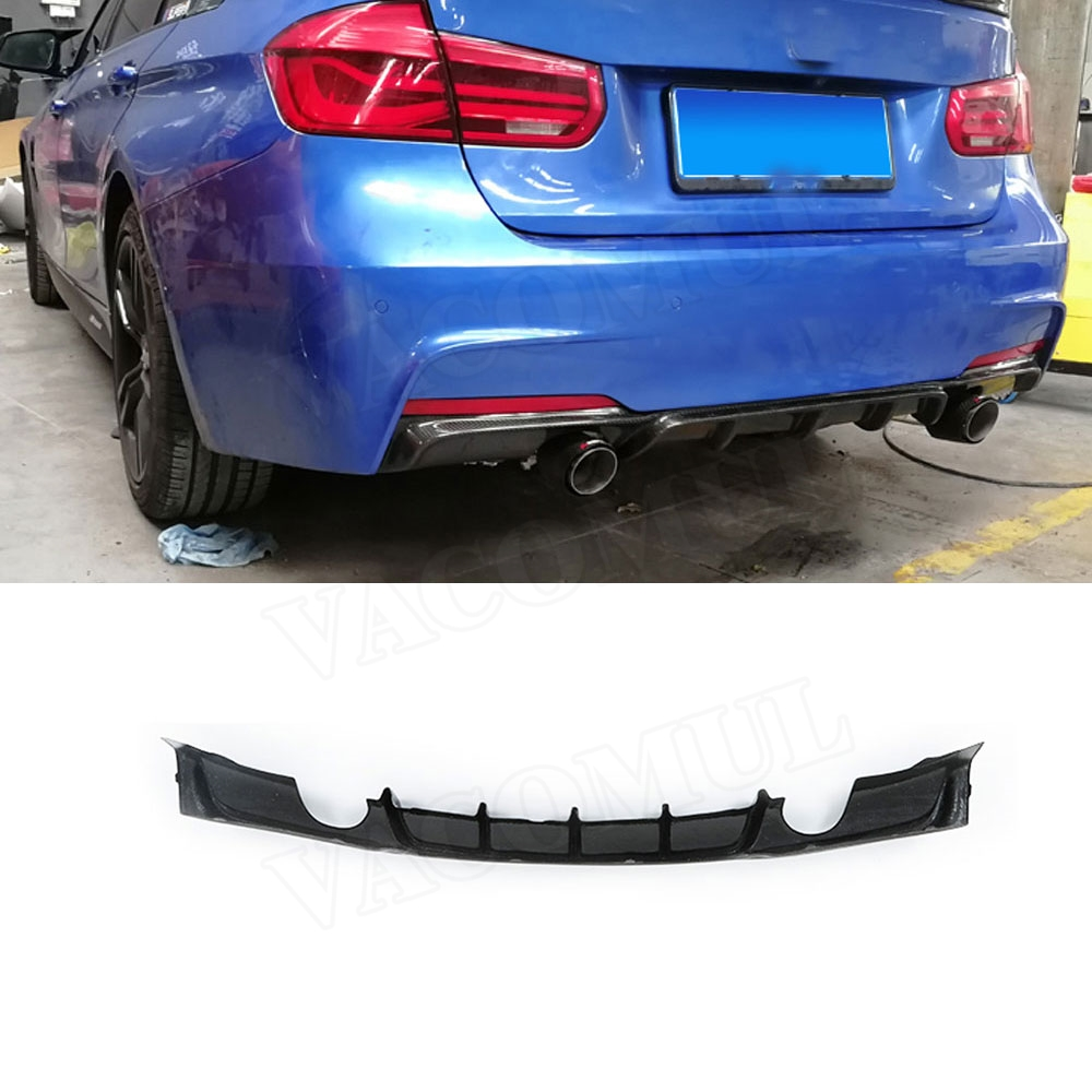 us 100 0 20 off rear lip spoiler for bmw 3 series f30 f35 320i 328i m tech sport 2012 2018 fins shark style diffuser double exhaust one pictures
