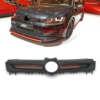 details about honeycomb front grille red mesh black fit for vw golf 7 mk7 gti tuning sport abt beetle