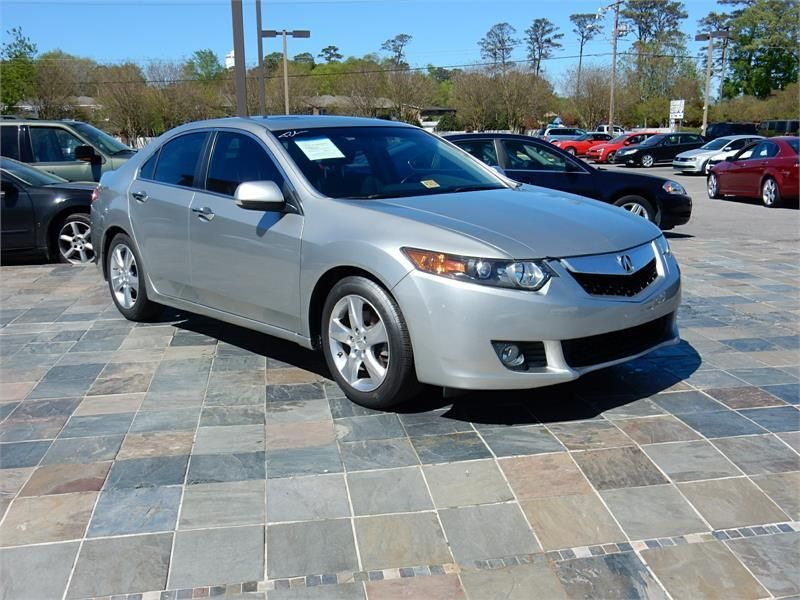 2010 acura tsx 59106 miles silver exterior color with a transmission - small