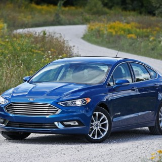 Ford fusion platinum hybrid 2018 suv drive photo of a - small