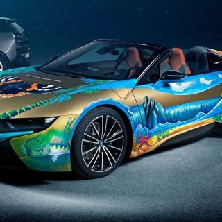 bmw i8 roadster 4 elements art car will help clean our spy photo
