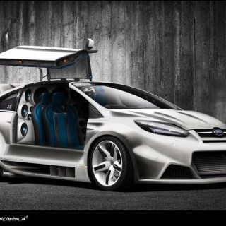 Cars Tuning Ford Focus Rs 3d 1280x858 Wallpaper - small