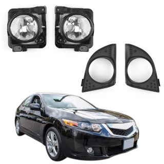 Details about lh rh foglight fog light lamp cover metal without bulb for acura tsx 2009 10 ue - small