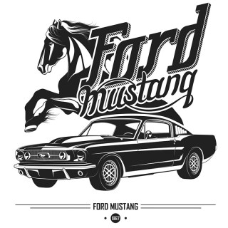 Ford Mustang 1967 Poster Photo