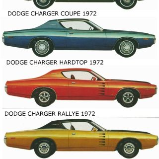 dodge charger s 1972 model lineup car side views photos by year