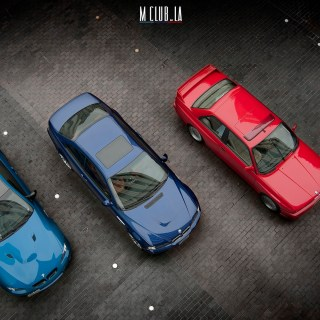 3 generations of m3s make the m stripes colors rainbow bmw wallpaper