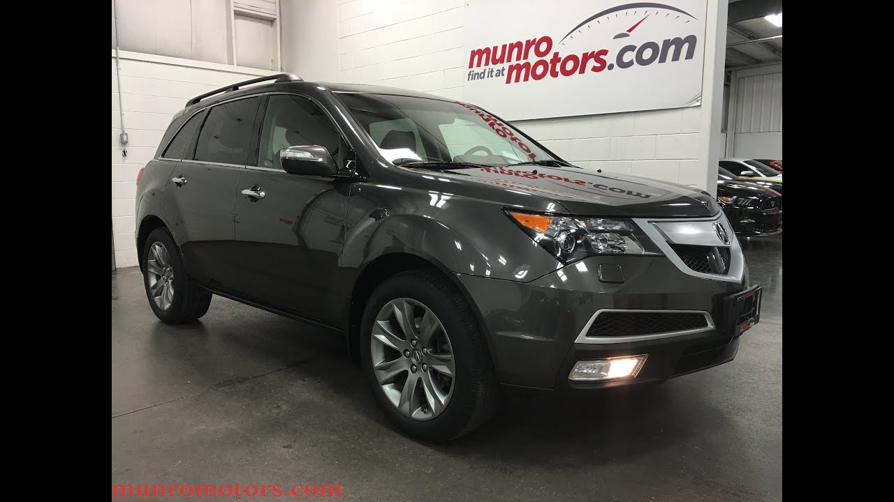 2011 acura mdx elite pkg sh awd all wheel drive dvd advanced sold munro motors review - small
