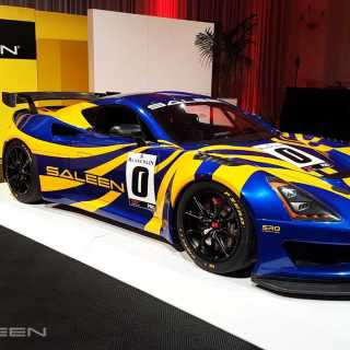 saleen gt4 concept debuts as a lightweight mid engine track car race