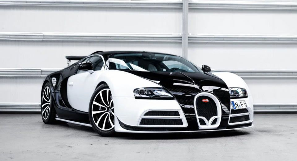 Panda colored bugatti veyron mansory vivere is one of two tuning - small