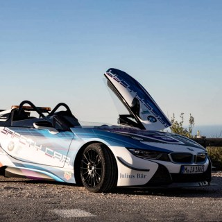 curtain up for the bmw i8 roadster safety car features - small