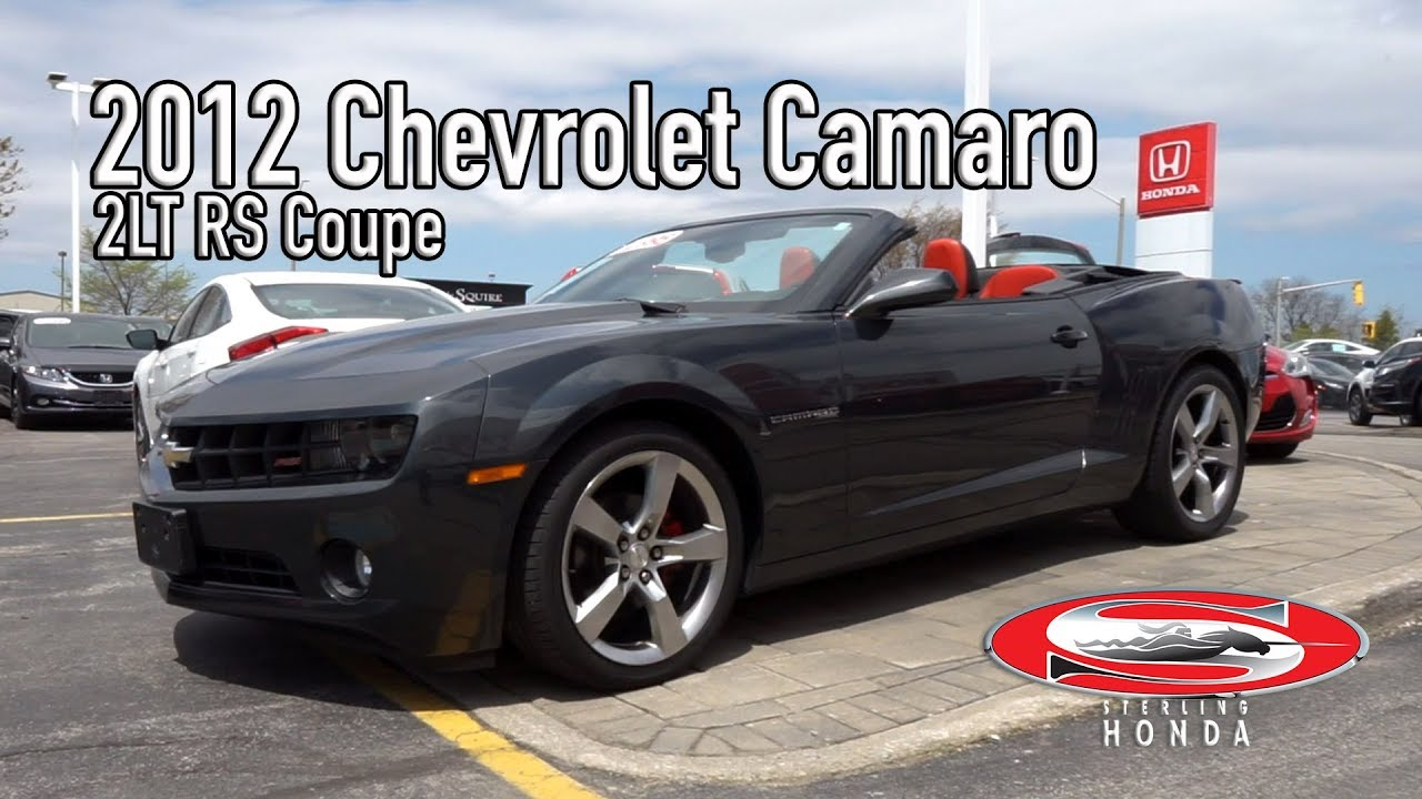 2012 chevrolet camaro 2lt rs features walk around sterling honda - small