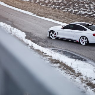 bmw 4 series coupe with white wheels is extreme but good m3 auto