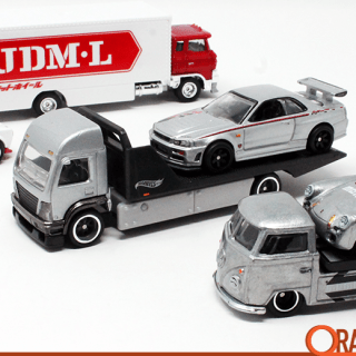 hot wheels car culture team transport mix e delivers on vmw gtr grey - small