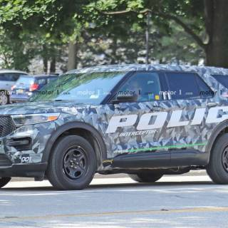 2020 Ford Explorer Police Interceptor Caught Completely Wallpaper - small