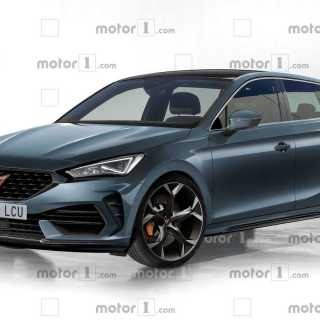 2021 cupra leon rendering takes after the spy shots seat