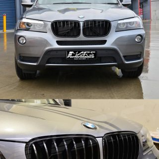 Details About Gloss Black Front Bumper Bar Kidney Grille Grill For Bmw X3 F25 10 14 Pre Lci Photo